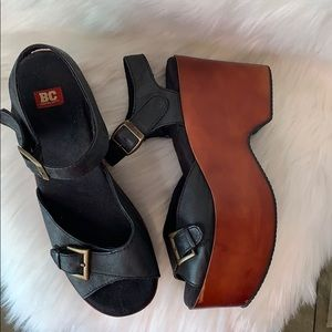 BC Footwear • platform wood sandals